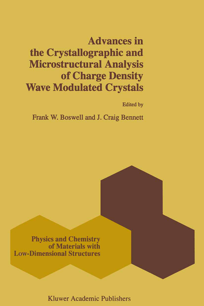 Advances in the Crystallographic and Microstructural Analysis of Charge Density Wave Modulated Crystals | Dodax.de