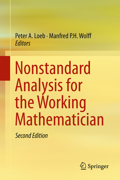 Nonstandard Analysis for the Working Mathematician   Dodax.ch
