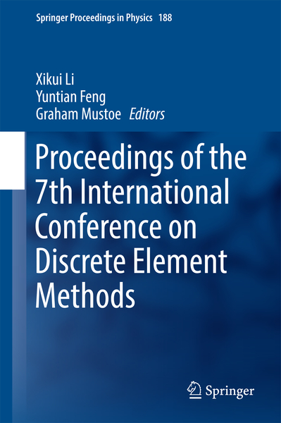Proceedings of the 7th International Conference on Discrete Element Methods | Dodax.nl