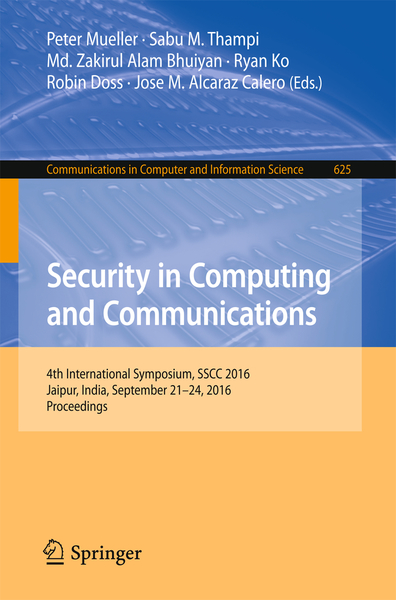 Security in Computing and Communications   Dodax.ch
