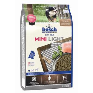 bosch Trockenfutter Mini Light, 2.5kg | Dodax.at