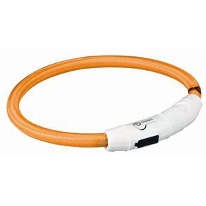 Trixie Flash Leuchtring USB orange XS-S 35 cm/7 mm | Dodax.fr