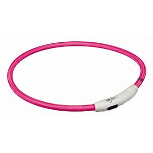 Trixie Flash Leuchtring USB pink L-XL 65 cm/7 mm | Dodax.fr