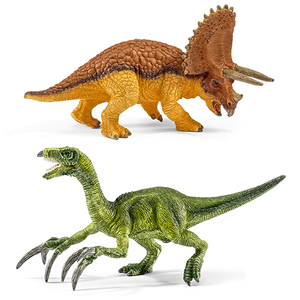 Schleich - Schleich Dinosaurs Triceratops and Therezinosaurus Small Figures Set (42217) | Dodax.co.jp