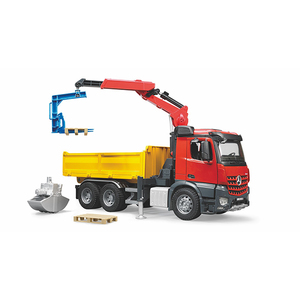 BRUDER MB Arocs Construction truck with accessories | Dodax.nl
