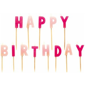 Kerzenset Happy Birthday pink | Dodax.ch