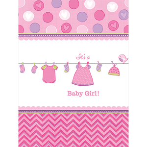 Tischdecke Baby Shower Girl 138x259cm | Dodax.at