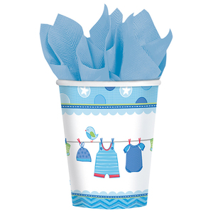 8 Becher 266ml Baby Shower Boy | Dodax.ch