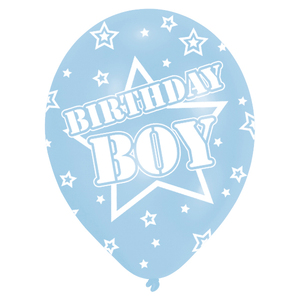 6 Ballone Birthday Boy blau | Dodax.at