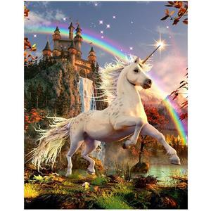 3D Bild Unicorn Evening Star | Dodax.at