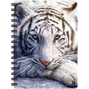 3D Spiralheft A6 White Tiger Repose | Dodax.ch