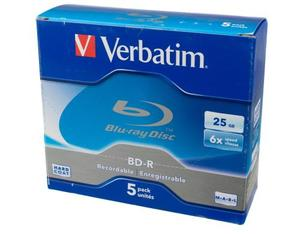 Verbatim BD-R 6x Single Layer 25GB 5-Pck. | Dodax.at