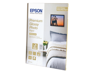 Epson Premium Glossy Photo Paper, DIN A4, 255g/m², 15 Sheets | Dodax.co.uk