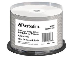 Verbatim CD-R 52x 80Min/700MB 50-Spindel | Dodax.at