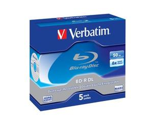 Verbatim BD-R 6x Dual Layer 50GB 5 Pck | Dodax.at