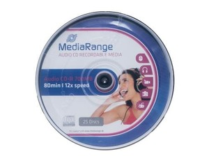 MediaRange AUDIO CD-R 700MB/80Min, 25er Sp | Dodax.at