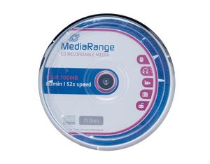 MediaRange CD-R 700MB/80Min, 25er Spindel | Dodax.at