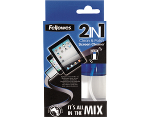 Fellowes 2in1 Screen Cleaner/Microfibre Cloth | Dodax.co.uk