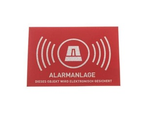 ABUS - Alarm Warning Photo Sticker (AU1323) | Dodax.com