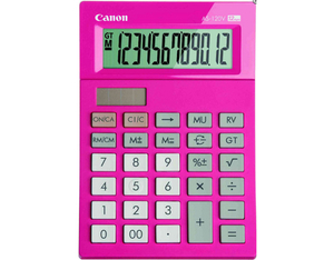 Canon AS-120V Desktop Basic calculator Pink | Dodax.ca