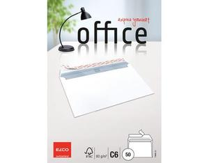 Elco - Envelope Office C6, Bright White, Peel and Seal Flap, 50 pcs (74460.12) | Dodax.nl