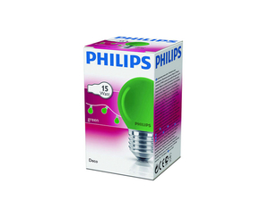 Philips Partylampe Tropfen farbig P45 15W | Dodax.at