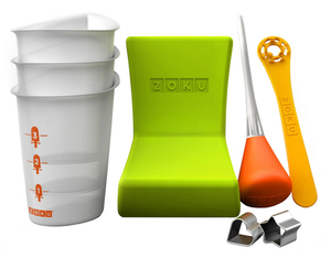 Zoku - Ice Cream Maker Accessories (Eis Tablett, Becher, Stab, Formen Quick, Eis-Kreationnen Quick Pop Maker) | Dodax.at