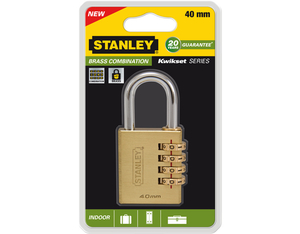 Stanley - Brass Combination, Indoor Padlock, 40 mm (81133371401) | Dodax.es