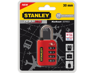 Stanley - Travelmax 4 Dial Combination Lock, 30 mm (81151393401) | Dodax.fr