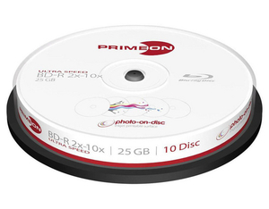 Primeon BD-R 25GB Single Layer 10er Sp | Dodax.ch