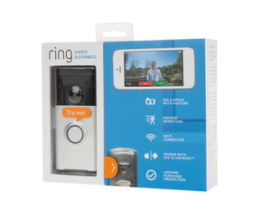 Ring-   Wireless Door Bell, Satin Nickel | Dodax.ch