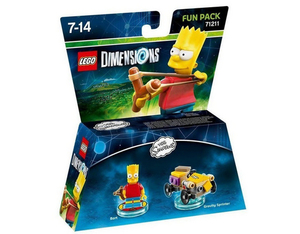 Warner Bros - LEGO® Dimensions Fun Pack The Simpsons Bart Simpson (W3X04872101) | Dodax.nl