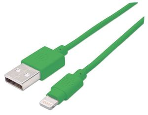 Manhattan Lightning to USB Kabel 1m, grün | Dodax.ch