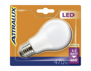 Attralux LED Lampe A60 5.5W matt, E27, ww | Dodax.ch