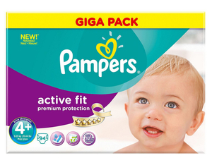 Pampers Active Fit 4+ Giga | Dodax.ch
