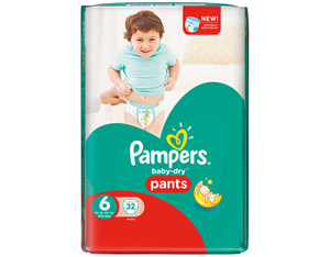 Pampers Baby Dry Pants 6 Spar | Dodax.at