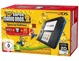 Nintendo 2DS Black + New Super Mario Bros. 2, Nintendo 3DS-Spiel, Limited Edition | Dodax.ch