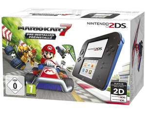 Nintendo 2DS Black + Mario Kart 7, Nintendo 3DS-Spiel, Limited Edition | Dodax.at