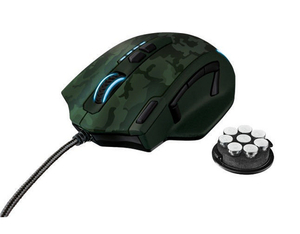 Trust GXT 155C Gaming Maus-green camouflage | Dodax.ch