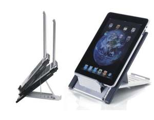 Newstar Portable Laptop and Tablet Desk Stand - Silver | Dodax.co.uk
