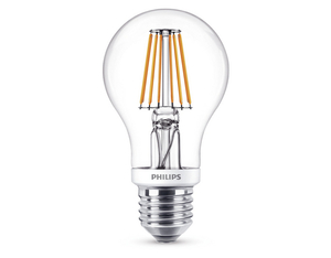 Philips LED Filament A60 7.5W (60W) WW klar | Dodax.ch