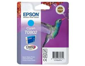 Epson Singlepack Cyan T0802 Claria Photographic Ink | Dodax.co.uk