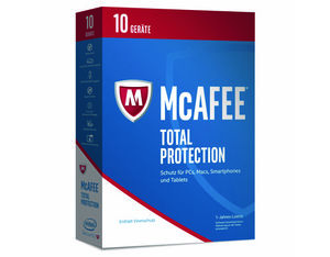 McAfee Total Protection 2017, 10 Geräte, Code in a Box für Windows und Mac | Dodax.at