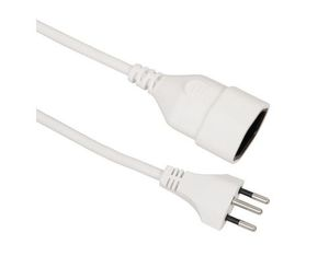 Elektro-Material T13/T12, 5 m 5m White power cable | Dodax.com
