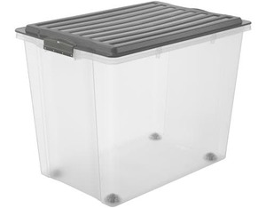 Rotho Stapelbox A3 mit Rollen 70 l COMPACT | Dodax.ch