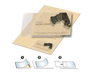 3L Business Card Pockets, Short-Side Opening. 60x95 mm. 10 pcs. | Dodax.co.uk