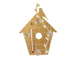 Pluto Thermometer Birdhouse gold | Dodax.ca