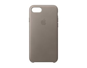Apple iPhone 7 Leder Case Taupe | Dodax.at
