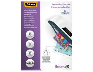 Fellowes ImageLast A5 80 Micron Laminating Pouch - 25 pack | Dodax.co.uk