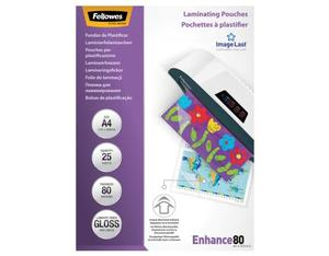 Fellowes ImageLast A4 80 Micron Laminating Pouch - 25 pack | Dodax.co.uk